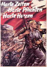 German WW2 Wehrmacht Hard Times Hard Duties SS Officer large Poster