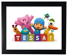 1 Pocoyo 8x11 inch Party Favor Birthday Personalized Wall Print