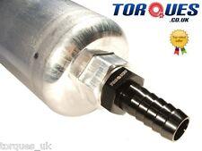 Bosch 044 Fuel Pump Inlet/Supply M18x1.5 to 15mm Barb Aluminium Adapter - Black