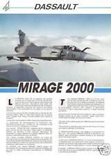 DASSAULT MIRAGE  2000C - MANUEL PILOTE + BROCHURE