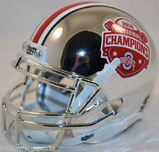 OHIO STATE BUCKEYES CHROME (2014 NATIONAL CHAMPIONS) Schutt XP Mini Helmet