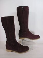 Alberto Fermani Italian Red Suede Midcalf Riding Boots Sz 38/8