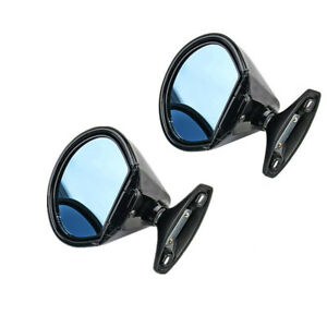2pcs Vintage Rearview Mirror Plane Black Fit For Car Door Wing Left Right Side
