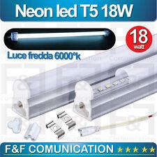 NEON LED TUBO LED T5 SMD OPACHI FREDDO SPOT 220V PLAFONIERA LED NEON GANCI