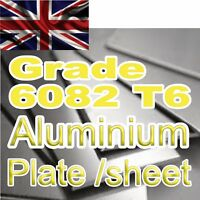 3 mm 4mm Aluminium plate 6082 T6 x 100 200 300 400 500 mm cut to size