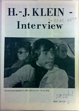 Hans Joachim Klein Interview Liberation No. 1450-1454 Oktober 1978 deutsch PS
