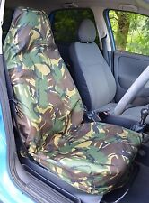 Green Camouflage Camo Waterproof Car / Van Single Seat Cover Protector ARMY