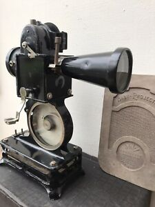 Pathe Baby 9.5mm Film Projector with Film, Spare lamps and Original Box