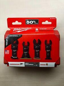 Milwaukee 6 Piece Universal Multi-Tool Blade Set w/ Case NEW 49-10-9112