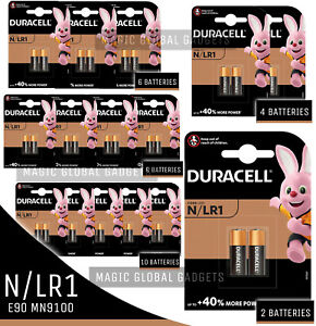 DURACELL LR1 N MN9100 1.5V ALKALINE BATTERY GP910A, 910A, E90, LONG EXPIRY 2024