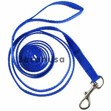 "New Nylon Dog Leash 5/8"" Inch Wide Small to Medium Pet Lead 7-Ft Long Blue"
