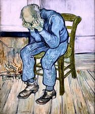 SORROWING OLD MAN AT ETERNITY'S GATE 1890 PAINTING BY VINCENT VAN GOGH REPRO