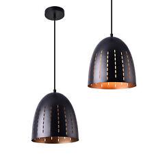 [lux.pro] Lámpara colgante de metal negra lámpara de techo de diseño