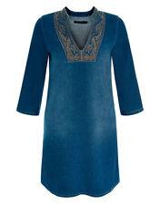 Monsoon Patternless 3/4 Sleeve Tunic Dresses for Women