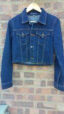 """Cropped Vintage denim jacket jean jacket 32"""" by Earl Jeans"""