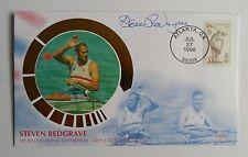 1996 Atlanta Olympics  BENHAM Cover Signed Steven Redgrave Triple Gold Medalist