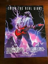 1993 VINTAGE 8X11 PRINT AD FOR SAMICK Guitars ENTER THE REAL GIANT COOL ART AD