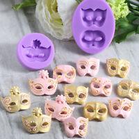3D Mask Silicone Fondant Mould Cake Decorating Chocolate Baking Mold Diy Tool