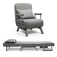 Convertible Sofa Bed Folding Arm Chair Sleeper, 5 Position Recliner Full Padded