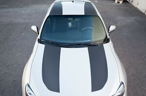 Full Roof Stripes Graphics Vinyl Decals for Subaru BRZ FR-S 13-16 Carbon Fiber