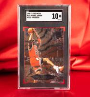 SGC 10 GEM 1996 Fleer Metal MICHAEL JORDAN Metal Shredders POP 18 HOF - PSA BGS