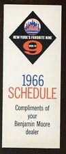 1966 MLB New York Mets Schedule NRMT