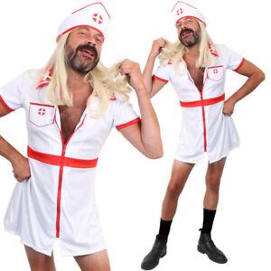 FUNNY STAG DO COSTUME MENS NURSE OUTFIT NOVELTY DRESS HOSPITAL SEXY UNIFORM