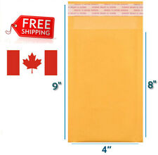 """4x8 Kraft Bubble Mailers Gold Self Seal Padded Envelopes 4""""x8"""" Size #000"""