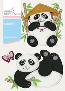 Baby Pandas Anita Goodesign Embroidery Machine CD NEW