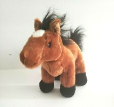 "Ganz Webkinzs Plush Arabian Horse Brown/Black 9"" #HM101 NO CODE"