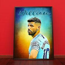 Sergio Aguero Manchester Man City Poster Print Photo Picture A3 A4 A5