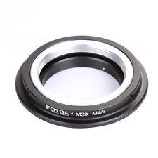Leica M39 Lens to Micro 4/3 M43 Adapter Ring GF3 G6 GX1 GH2 E-P5 E-5 E-PM1 E-PL5