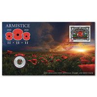 New Zealand  ARMISTICE - 2018 50c Commemorative Stamp and Coin Pack
