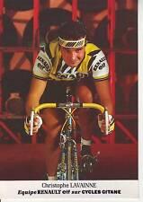 CYCLISME carte cycliste CHRISTOPHE LAVAINNE équipe RENAULT ELF 1985