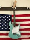 Fender Squier Electric Guitar Sea Foam Green with Tremolo & Pro Setup & Gig Bag for sale