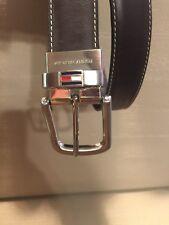 Tommy Hilfiger Men's Brown/Black Genuine Leather Reversible Belt Sz 32/80