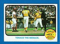 1973 TOPPS WORLD SERIES GAME 1 TENACE THE MENACE # 203
