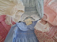 DRESS - BABY - GIRLS-TODDLER - HAND SMOCKED-VINTAGE - ALL IN ONE - SIZE 0000-2