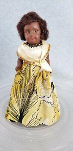 "8"" antique French SFBJ Paris Eden Bebe African American Souvenir Doll TLC"