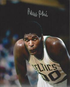 Boston Celtics Robert Parish  autographed 8x10 action   photo