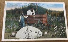 BLACK AMERICANA POSTCARD DATED 1917 WRITTEN BY A COTTON PICKER IN SOUTH CAROLINA