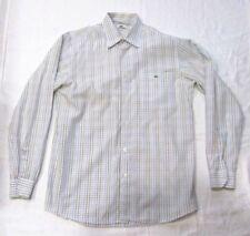 LACOSTE Long Sleeve Shirt MEN'S 40 US Sz M Check White Blue Pink Plaid