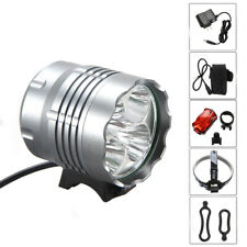 5xXM-L T6 30000Lm LED Front Bicycle Bike Head Light Headlamp Rechargeable Torch