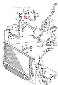 Genuine AUDI RS3 Sportback Lim. RSQ3 8PA 8UB Coolant Hose 8P0122051