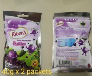 Ribena Blackcurrant Pastilles Candy (40g x 2 packs)