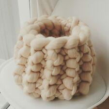 Baby Pod Cream Wool Basket Newborn Baby Posing Photography Prop