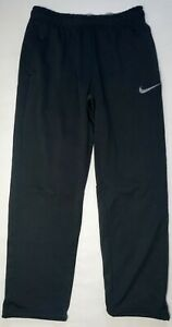 NIKE THERMA-FIT - ATHLETIC WORKOUT PANTS SWEATPANTS - MENS MEDIUM - BLACK