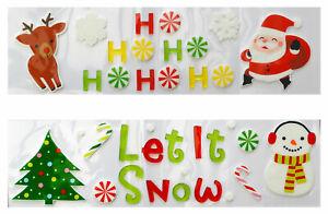 Large Christmas Window Reusable Gel Stickers Xmas 2 Designs Any Random Supplied