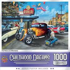 Childhood Dreams Hot Rods and Milkshakes 1000 Piece Jigsaw Puzzle