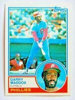 Garry Maddox #615 Topps 1983 Baseball Card (Philadelphia Phillies) VG